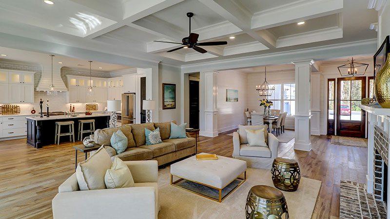 Custom Homes Living Room