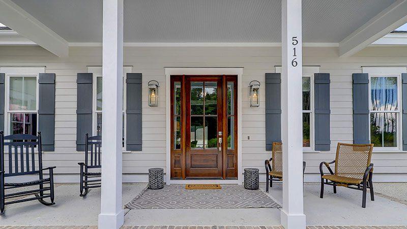 Custom Homes Front Door