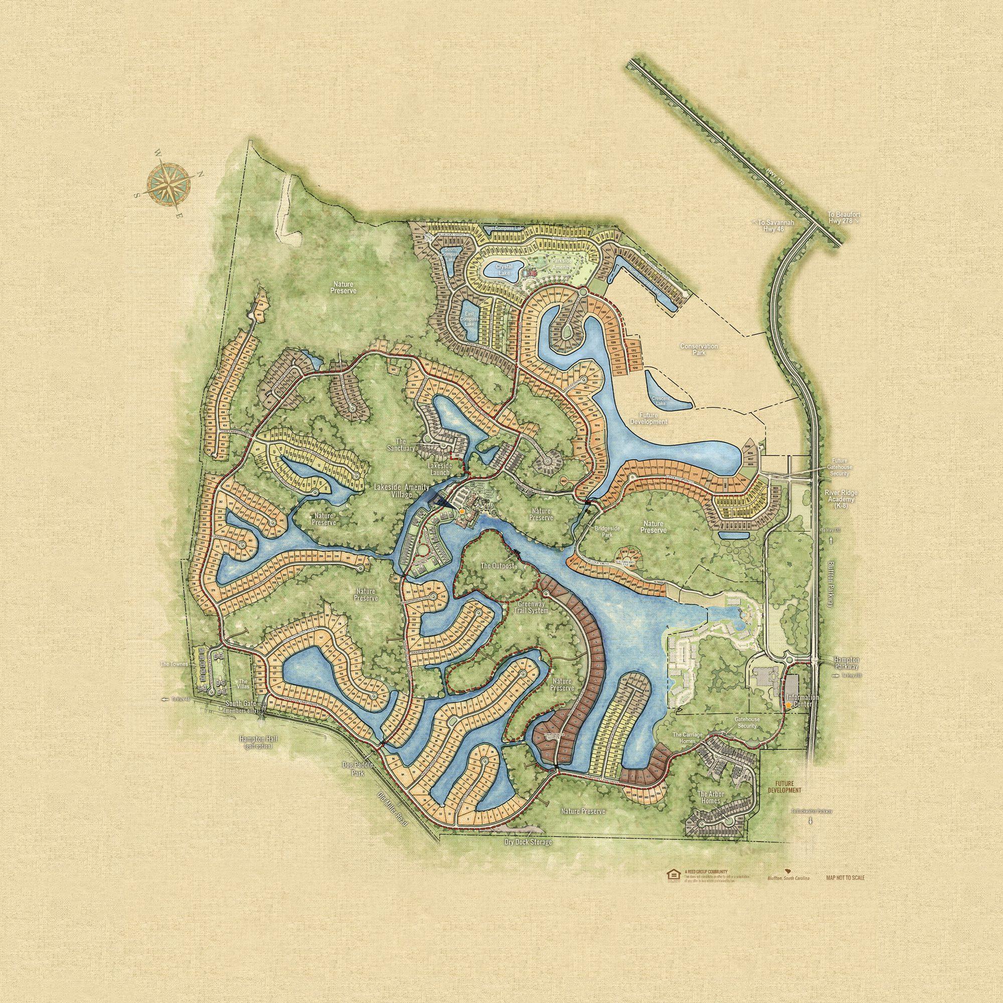 Hampton Lake Community Map